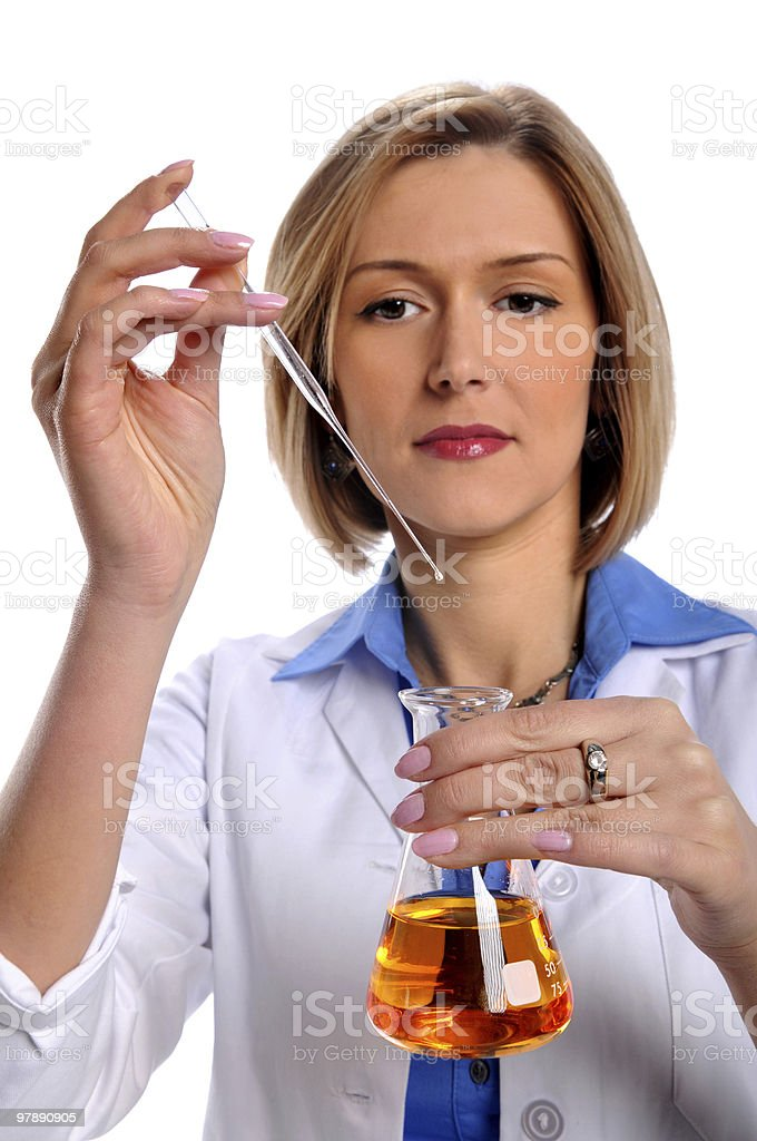 Scientist Working in the Lab royalty-free stock photo