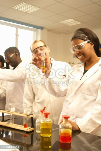 129300487 istock photo Scientists at work in lab 129300484
