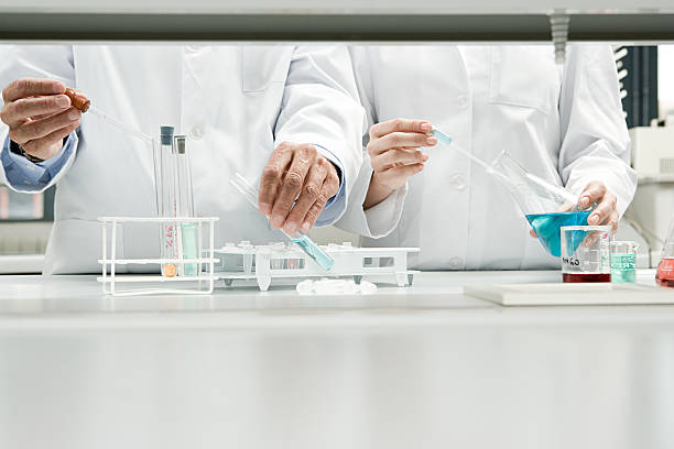 scientists conducting an experiment - laboratory stock photos and pictures