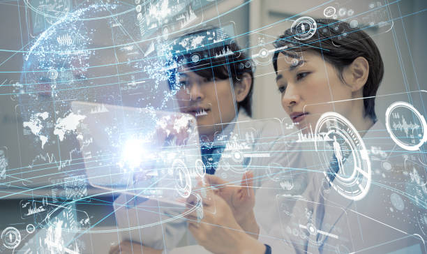 Scientists in the laboratory. stock photo