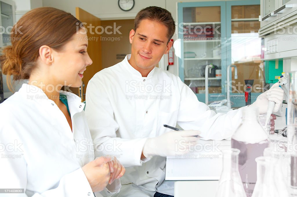 scientists working royalty-free stock photo