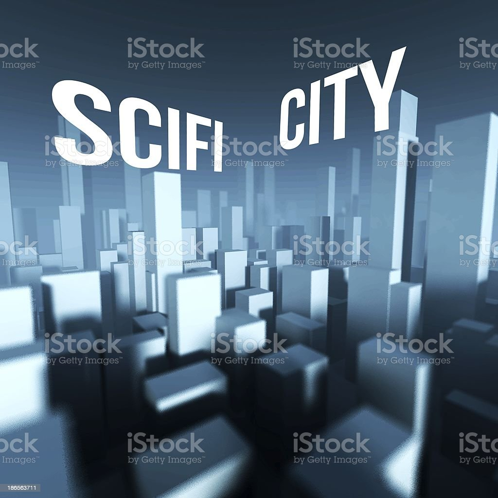 Scifi City In 3d Model Of Downtown Architectural Creative