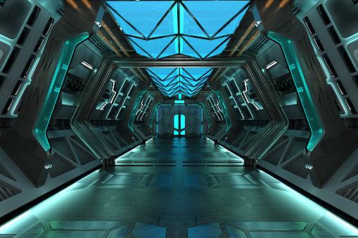 Sci-Fi grunge corridor
