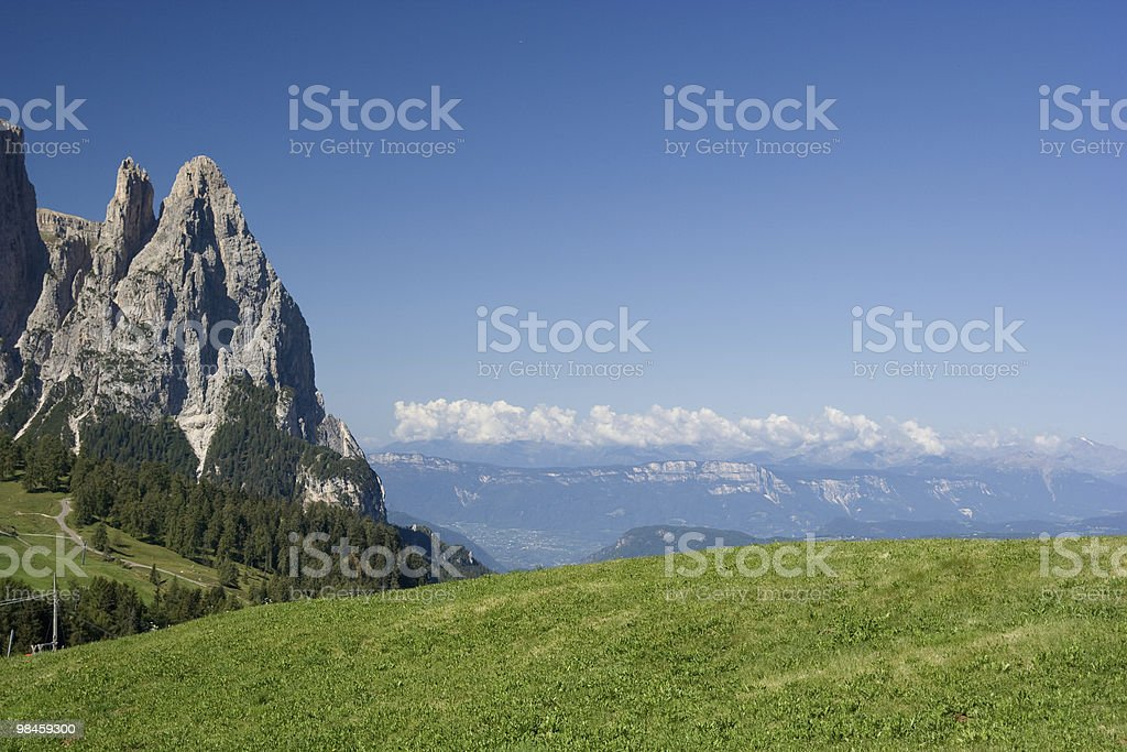 Sciliar Mountain, Alpe di Siusi Dolomiti - Italian Alps royalty-free stock photo