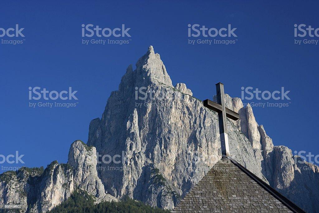 Sciliar Mountain Peak, Dolomiti - Italian Alps royalty-free stock photo