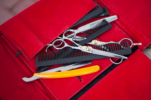 scissors and combs