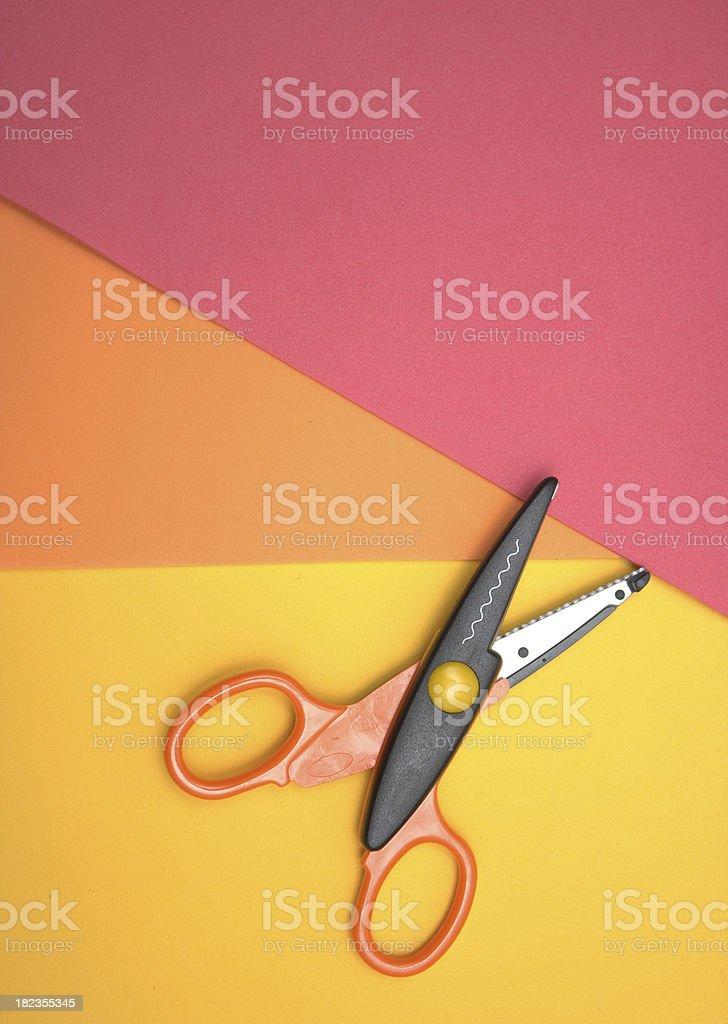 Scissors and craft foam royalty-free stock photo