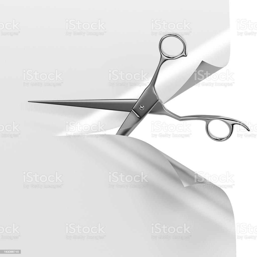 Scissors and paper stock photo