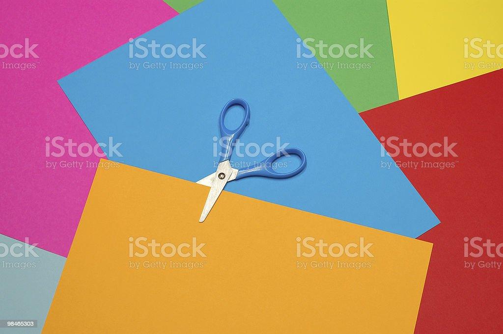 Forbici taglio di carta foto stock royalty-free