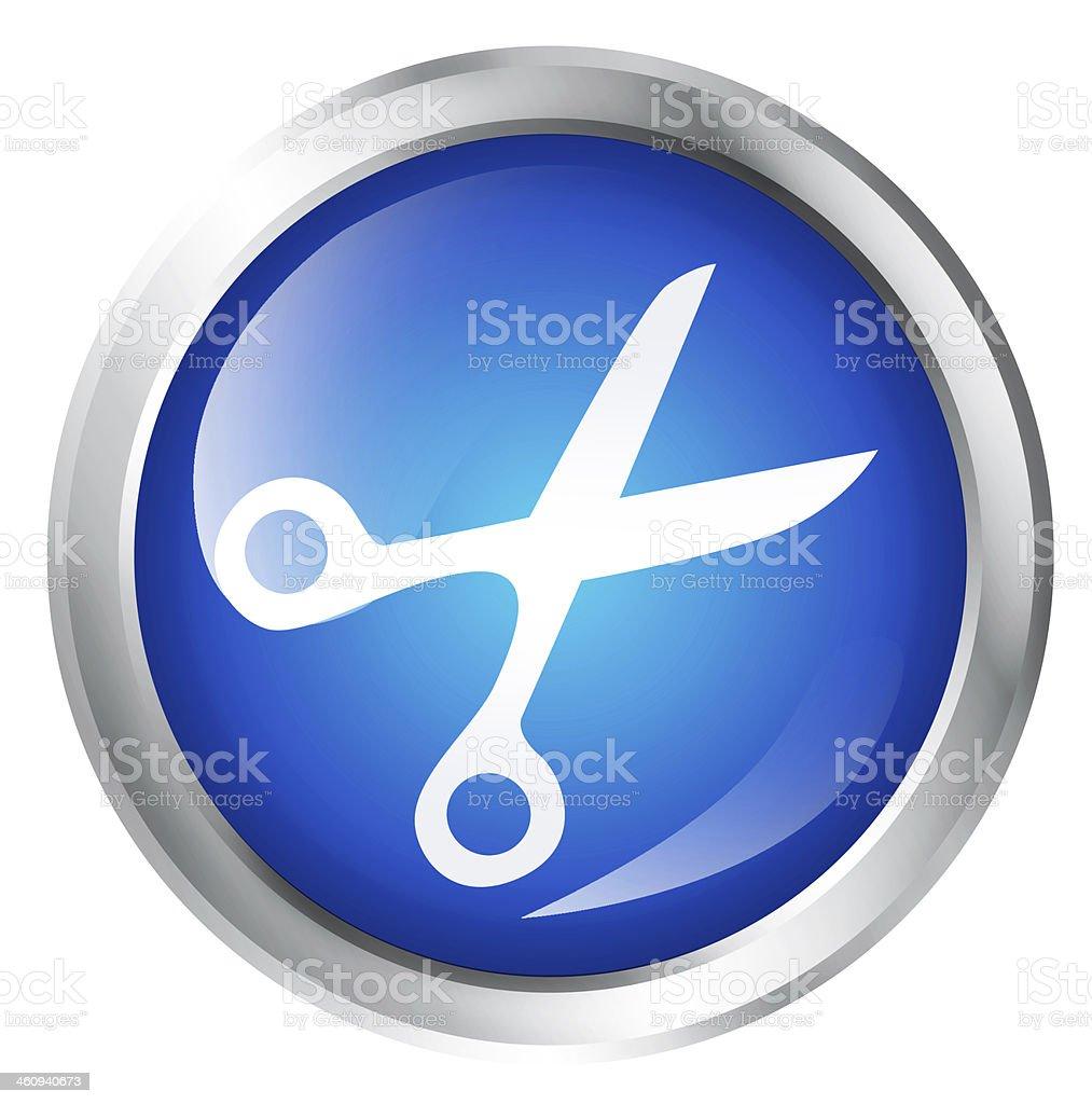 Scissors icon stock photo