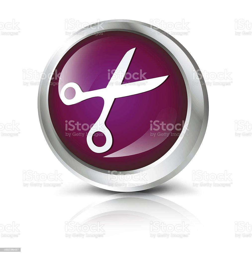 Scissors icon royalty-free stock photo