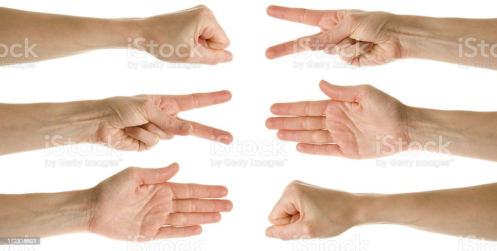 Scissors paper stone game royalty-free stock photo