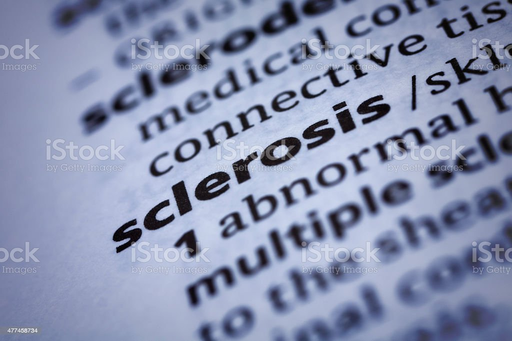 Sclerosis: Dictionary Close-up stock photo