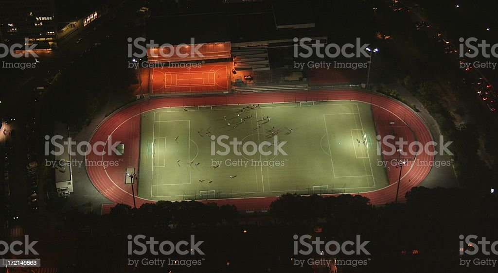 Scoccer Stadium at night royalty-free stock photo