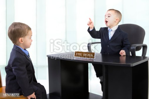 istock Scolded by the boss 157418272