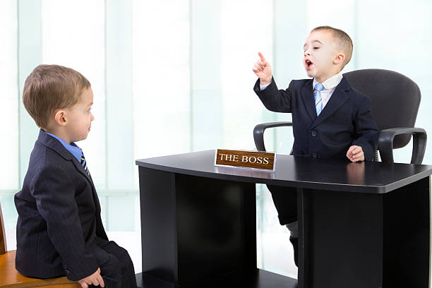 Scolded by the boss stock photo