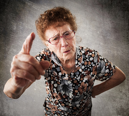 Scolded The Old Woman Stock Photo - Download Image Now