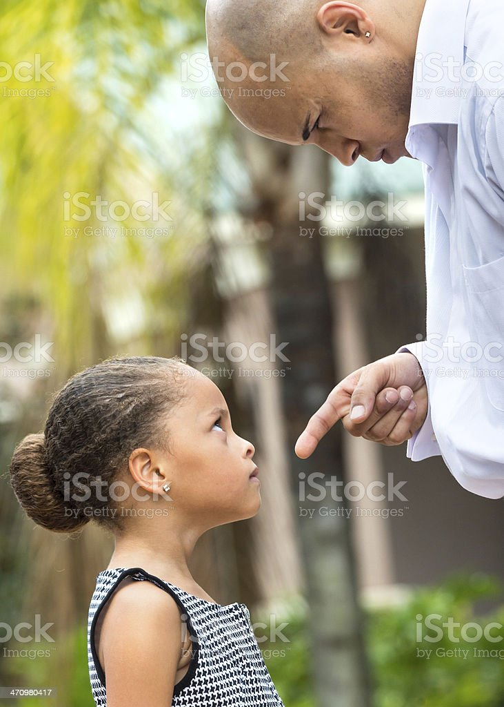 Scolding the child stock photo