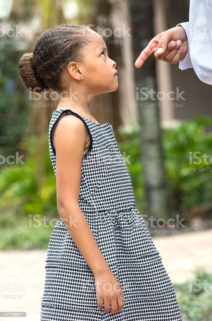 Scolding the child royalty-free stock photo