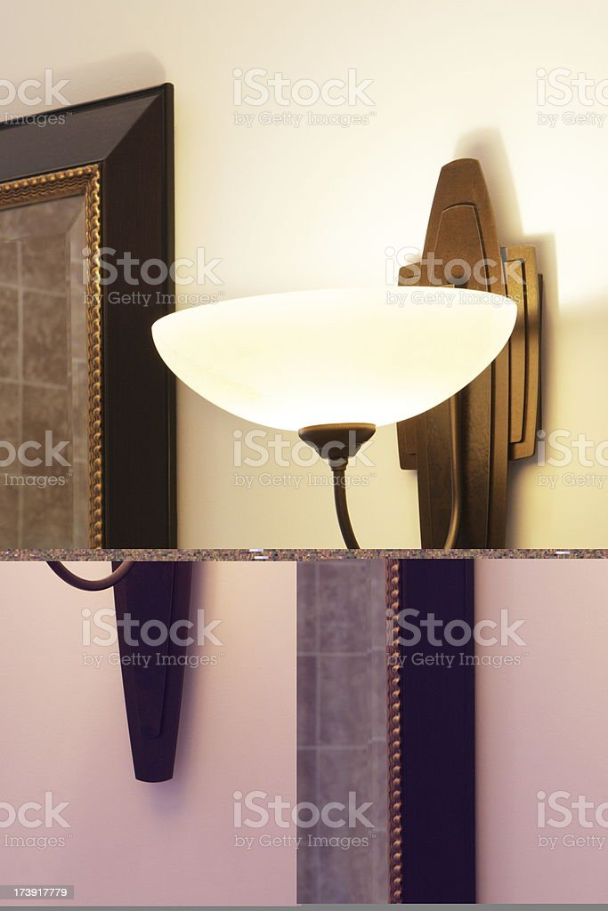 Sconce Light Home Decor royalty-free stock photo