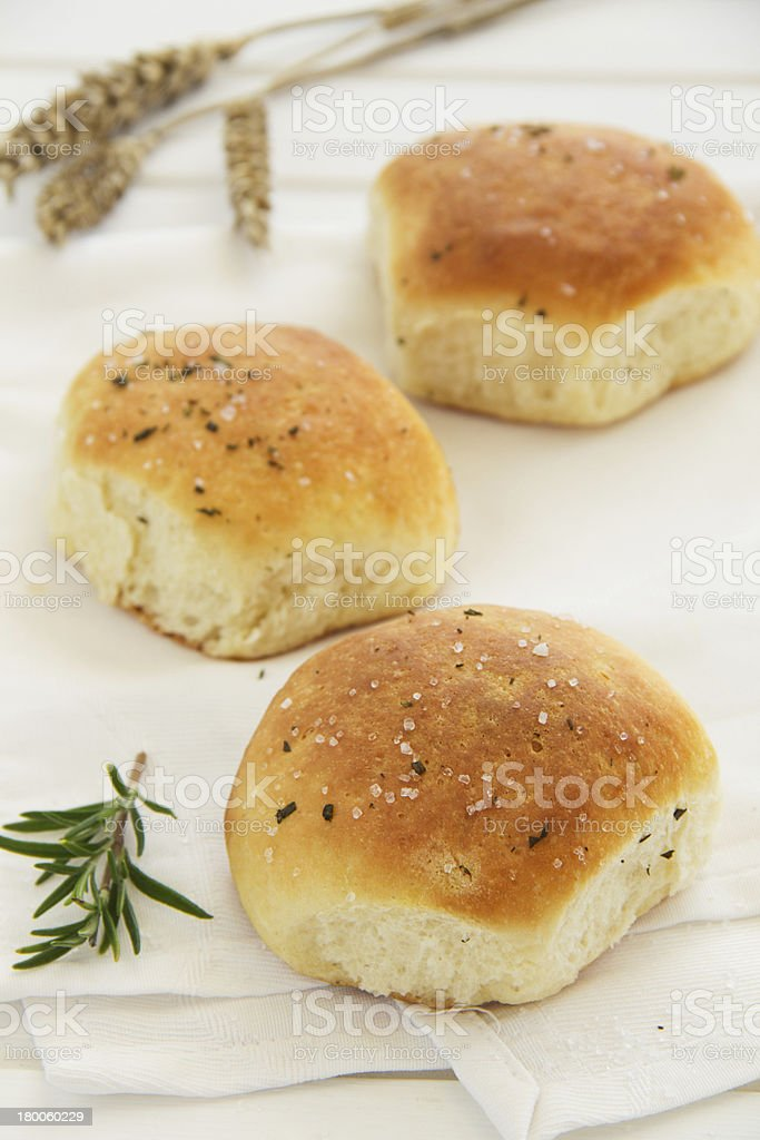 Scones with Parmesan and rosemary. Selective focus. royalty-free stock photo