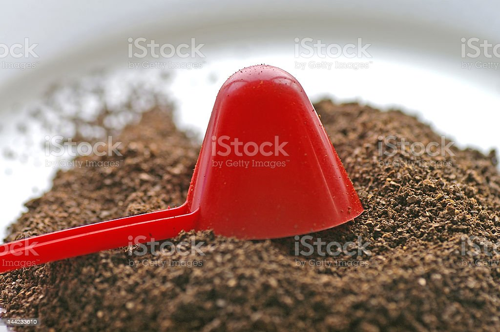 Scoop & Coffee royalty-free stock photo