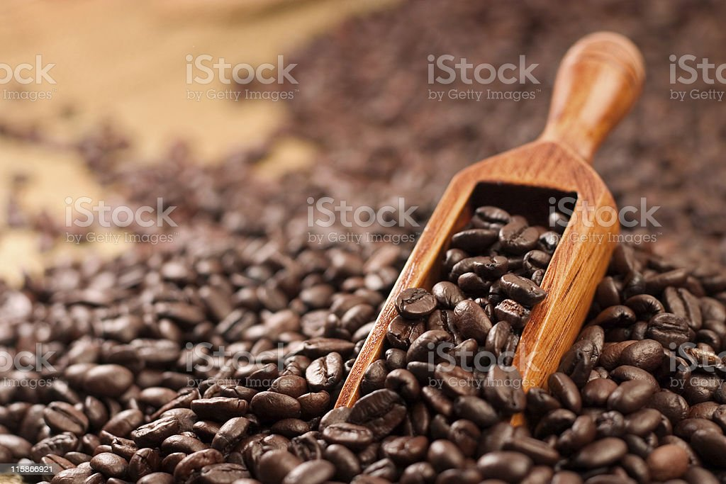 Scoop of Java royalty-free stock photo
