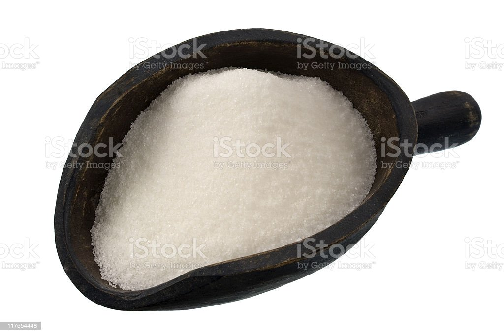 scoop of white sugar royalty-free stock photo