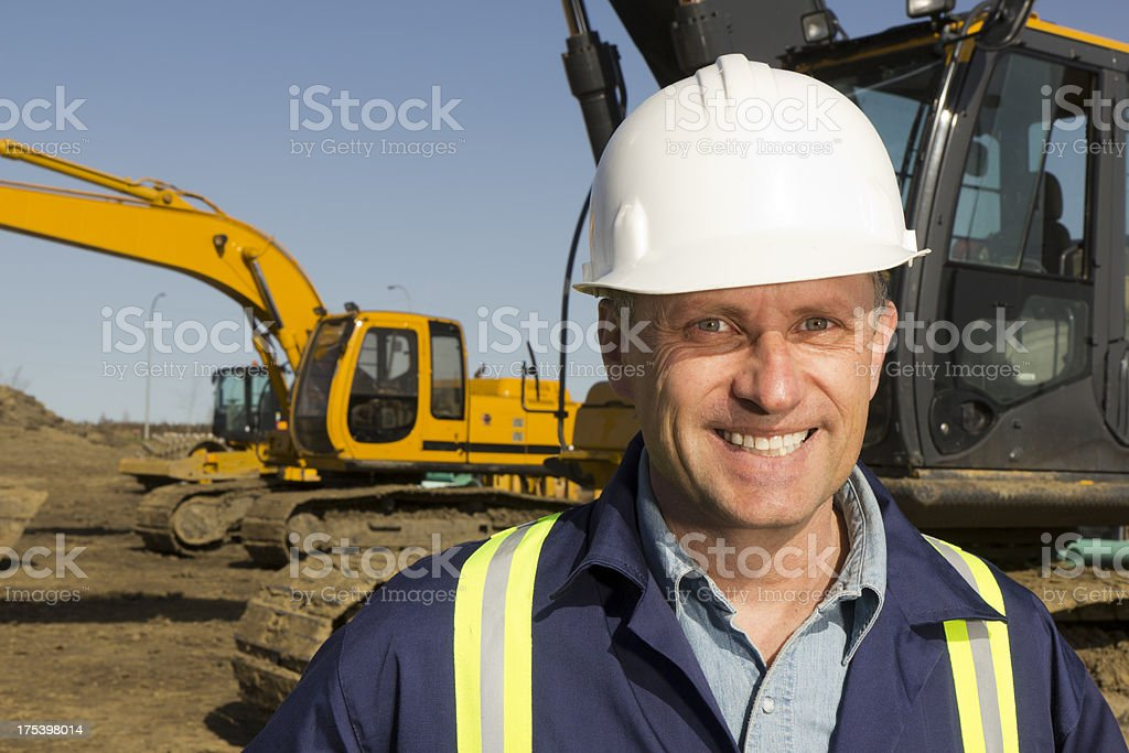 Scoop Operator royalty-free stock photo