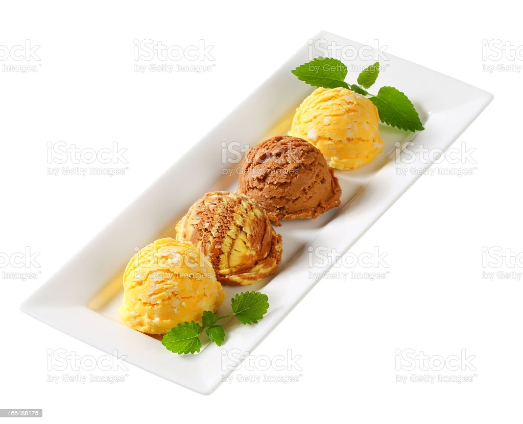 Scoops of ice cream stock photo