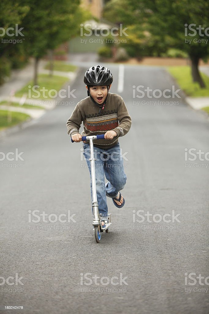Scooter Boy royalty-free stock photo
