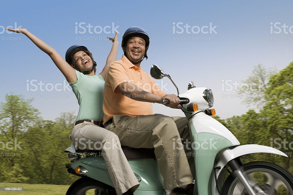 Scooter Couple stock photo
