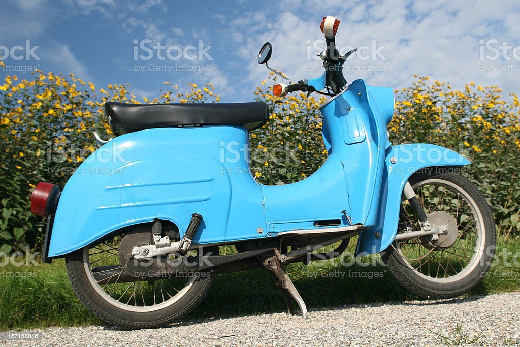 Scooter from 1973 stock photo