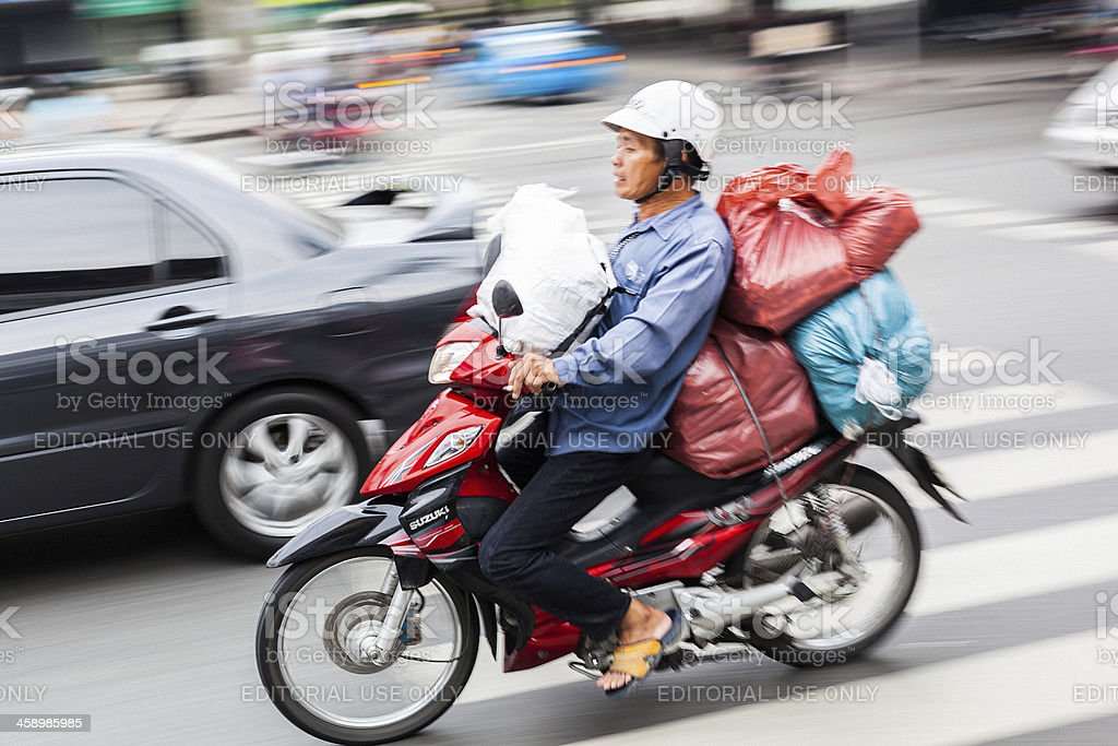 Scooter in Bangkok royalty-free stock photo
