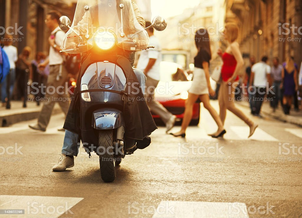 Scooter in Italy stock photo