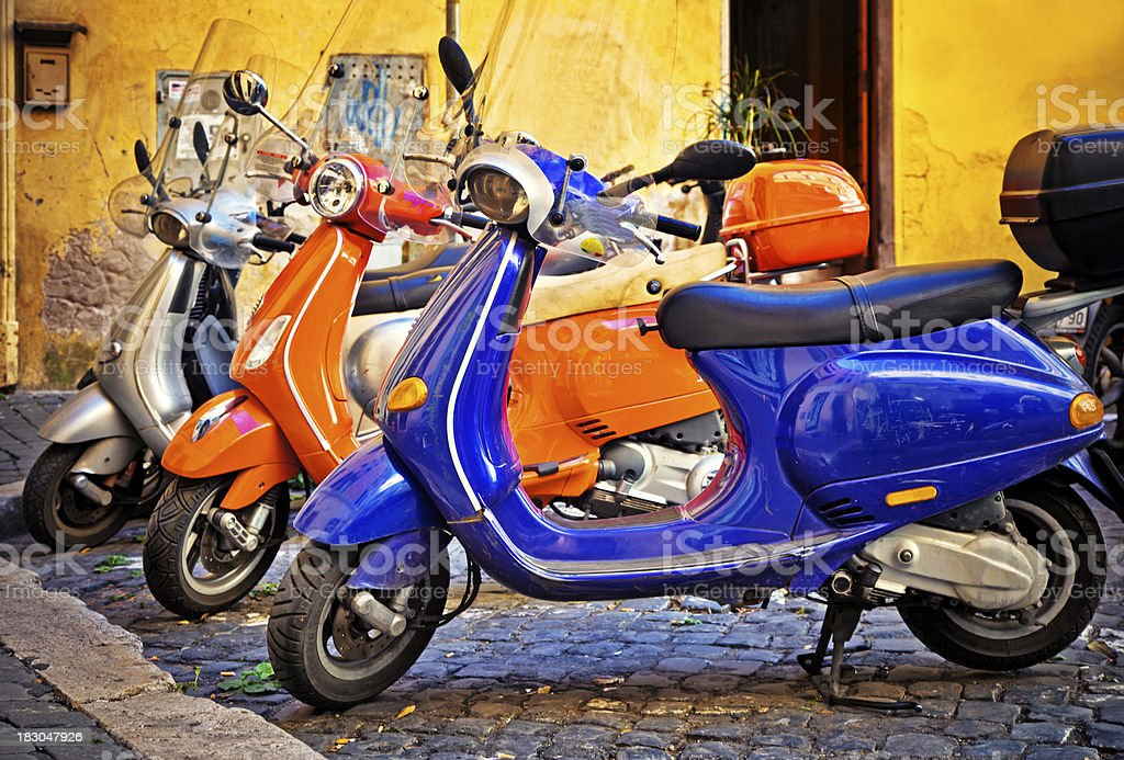 Scooter in Rome, Italy royalty-free stock photo