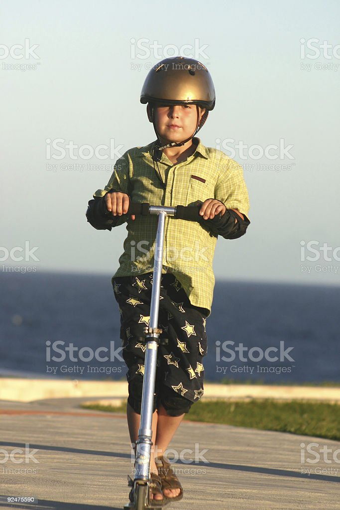 Scooter Kid royalty-free stock photo