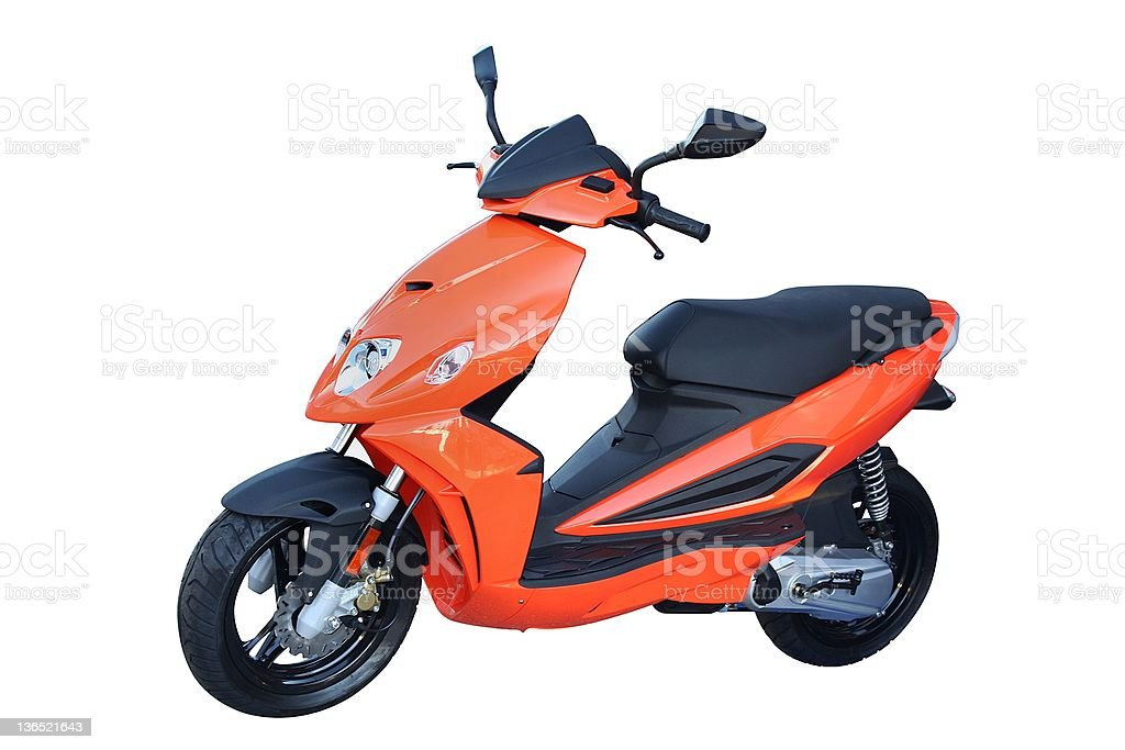 Scooter moped stock photo