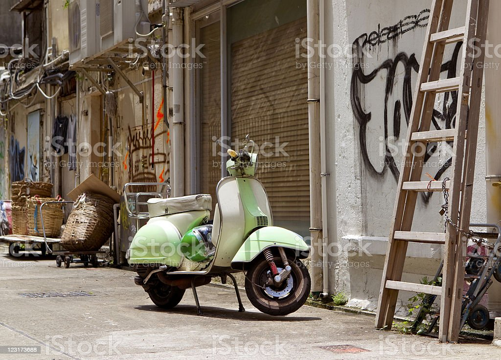 Scooter royalty-free stock photo
