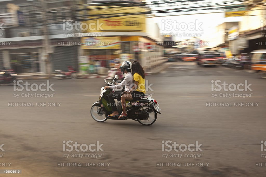 Scooter - Surat Thani, Thailand royalty-free stock photo