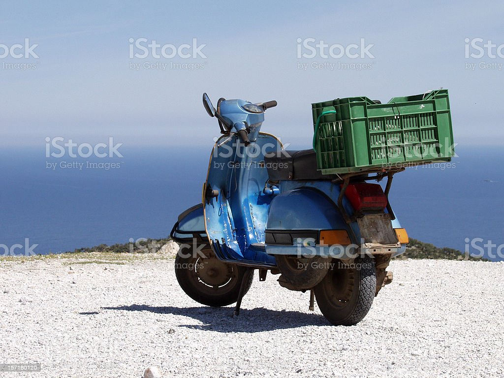 Scooter with a view royalty-free stock photo