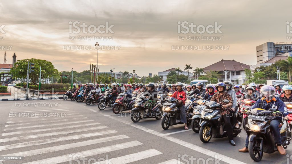 Scooters in Indonesië foto