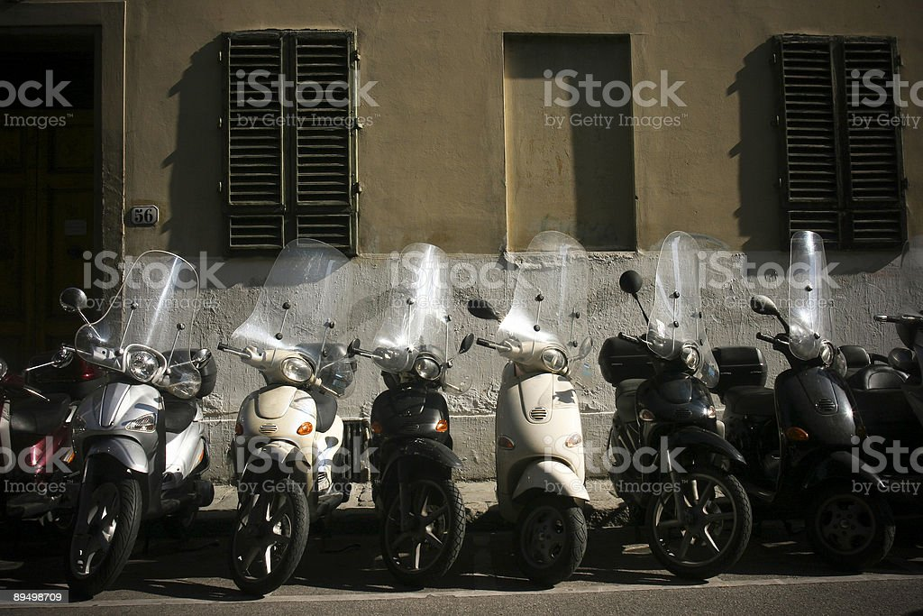 Scooters in Italy royalty free stockfoto