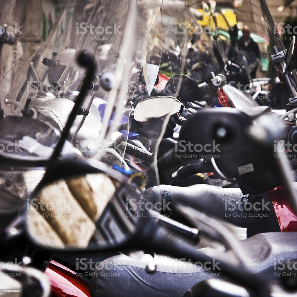 Scooters in Rome royalty-free stock photo