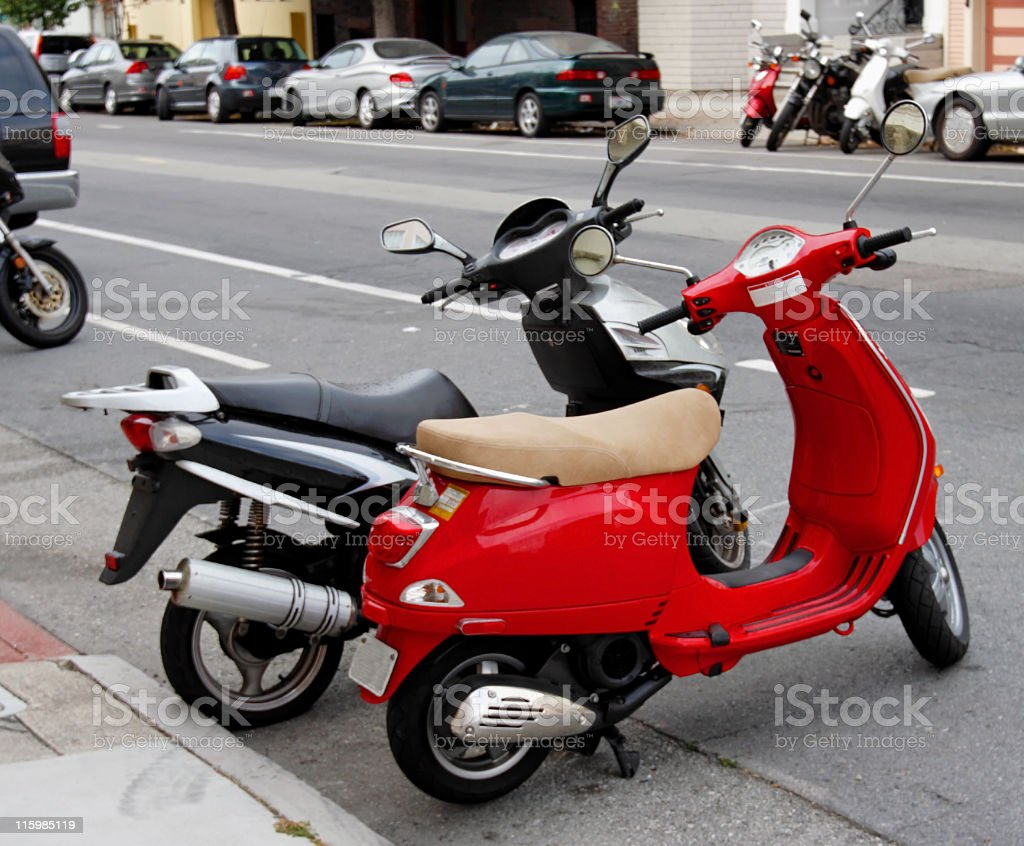 Scooters royalty-free stock photo