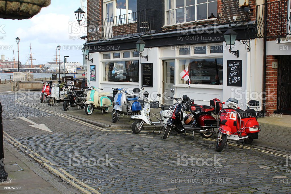 Scooters stock photo