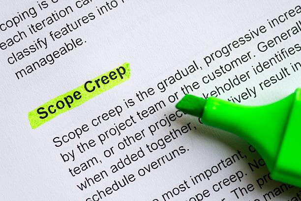 scope creep stock photo