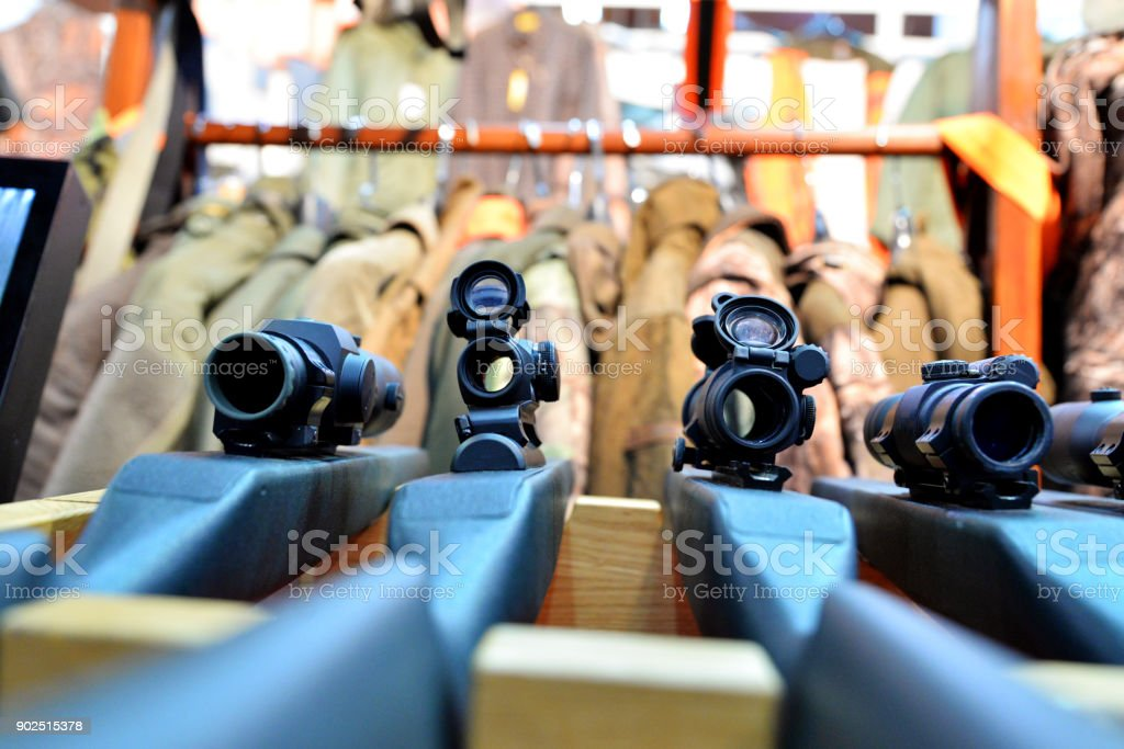 Bereichsbezogene Gewehr im Army-shop – Foto
