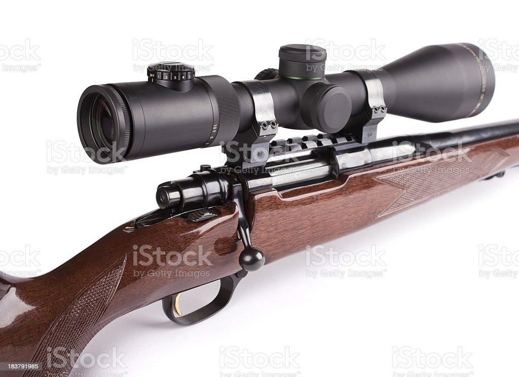 Scoped rifle royalty-free stock photo