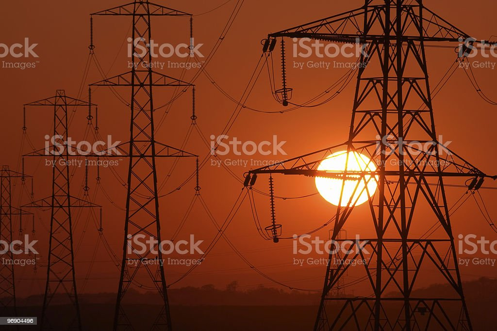 scorched pylon royalty-free stock photo